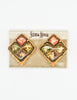 Christian Lacroix Vintage Colorful Glass Tile Earrings - Amarcord Vintage Fashion  - 5