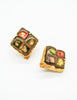 Christian Lacroix Vintage Colorful Glass Tile Earrings - Amarcord Vintage Fashion  - 2