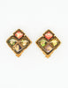 Christian Lacroix Vintage Colorful Glass Tile Earrings - Amarcord Vintage Fashion  - 3