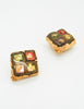 Christian Lacroix Vintage Colorful Glass Tile Earrings - Amarcord Vintage Fashion  - 4