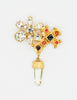 Christian Lacroix Vintage Gold Cross Prism Brooch - Amarcord Vintage Fashion  - 2