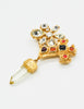 Christian Lacroix Vintage Gold Cross Prism Brooch - Amarcord Vintage Fashion  - 3