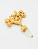 Christian Lacroix Vintage Gold Cross Prism Brooch - Amarcord Vintage Fashion  - 6