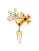 Christian Lacroix Vintage Gold Cross Prism Brooch - Amarcord Vintage Fashion  - 1