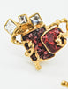 Christian Lacroix Vintage Sacred Heart Earrings - Amarcord Vintage Fashion  - 5