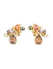 Christian Lacroix Vintage Colorful Multi-Stone Earrings - Amarcord Vintage Fashion  - 1