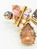 Christian Lacroix Vintage Colorful Multi-Stone Earrings - Amarcord Vintage Fashion  - 4