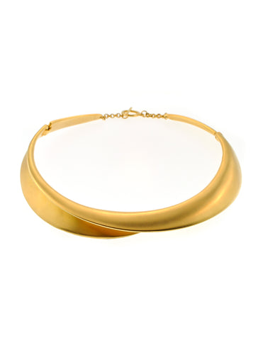Clara Studio Vintage Gold Collar Choker Necklace