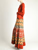 Clutch Cargo Vintage Rust Floral Geisha Knit Sweater Dress - Amarcord Vintage Fashion  - 4