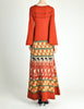 Clutch Cargo Vintage Rust Floral Geisha Knit Sweater Dress - Amarcord Vintage Fashion  - 8