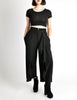 Comme des Garçons Vintage Black Wool Cropped Pants - Amarcord Vintage Fashion  - 2