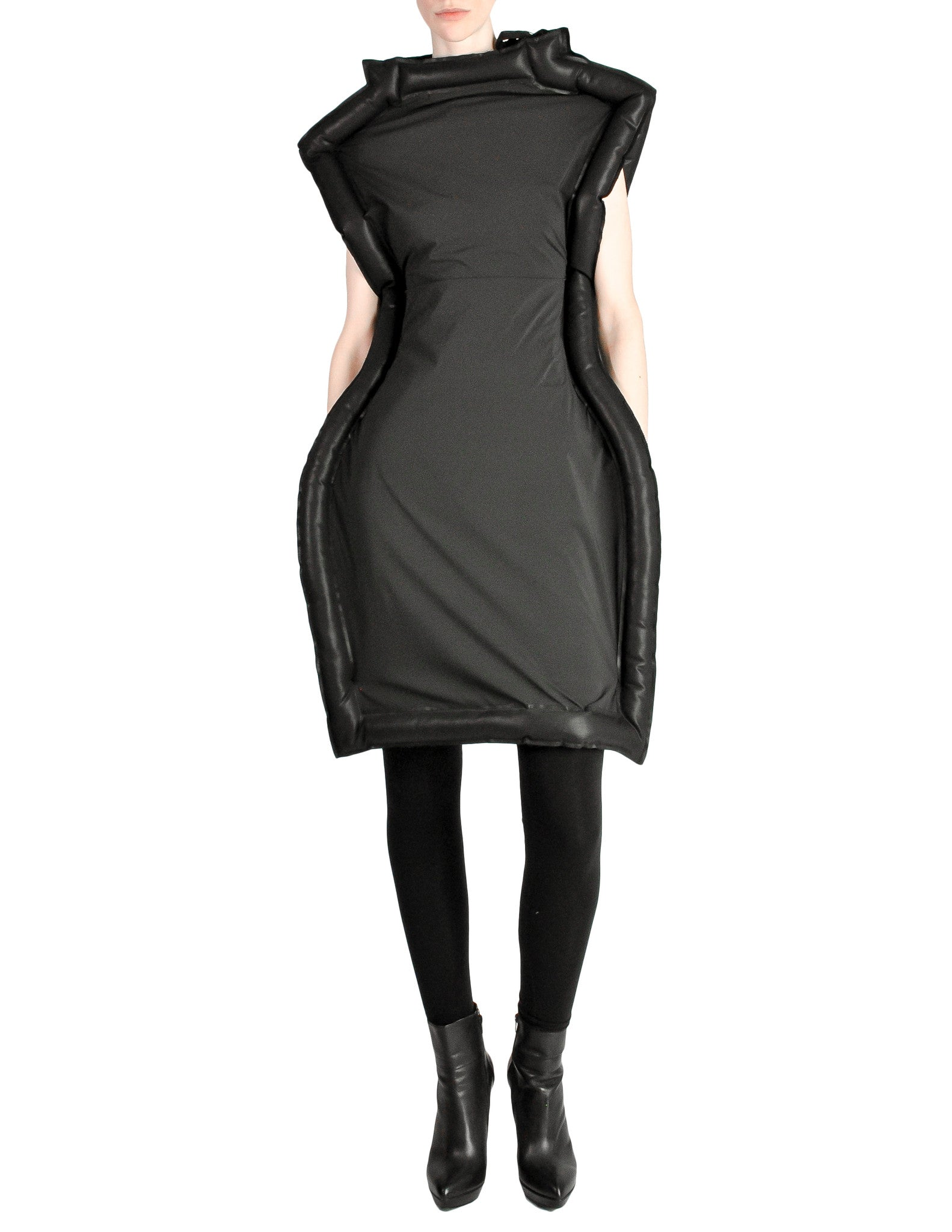 Comme des Garçons Black Puffed Tube Frame Dress - Amarcord Vintage Fashion  - 1