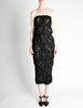 Comme des Garçons Vintage Black Sheer Ruched Strapless Dress - Amarcord Vintage Fashion  - 3