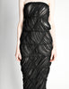 Comme des Garçons Vintage Black Sheer Ruched Strapless Dress - Amarcord Vintage Fashion  - 5
