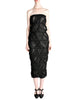 Comme des Garçons Vintage Black Sheer Ruched Strapless Dress - Amarcord Vintage Fashion  - 1