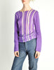 Comme des Garçons Vintage Purple & Sheer Mesh Striped Sweater - Amarcord Vintage Fashion  - 3