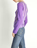 Comme des Garçons Vintage Purple & Sheer Mesh Striped Sweater - Amarcord Vintage Fashion  - 5