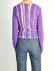 Comme des Garçons Vintage Purple & Sheer Mesh Striped Sweater - Amarcord Vintage Fashion  - 7