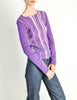 Comme des Garçons Vintage Purple & Sheer Mesh Striped Sweater - Amarcord Vintage Fashion  - 6