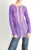 Comme des Garçons Vintage Purple & Sheer Mesh Striped Sweater - Amarcord Vintage Fashion  - 2