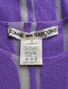Comme des Garçons Vintage Purple & Sheer Mesh Striped Sweater - Amarcord Vintage Fashion  - 8