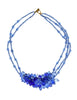 Vintage Coppola e Toppo Frosty Blue Crystal Bead Necklace