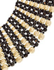 Coppola e Toppo Vintage Outstanding Woven Black Glass Pearl Beaded Collar Necklace