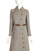 Courreges Vintage 1960s Numbered Space Age Mod Brown White Coat