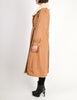 Courreges Vintage Fur Collar Brown Toggle Coat