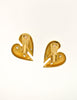 Courrèges Vintage Gold Broken Heart Earrings - Amarcord Vintage Fashion  - 4