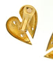 Courrèges Vintage Gold Broken Heart Earrings - Amarcord Vintage Fashion  - 5