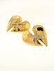 Courrèges Vintage Gold Broken Heart Earrings - Amarcord Vintage Fashion  - 3