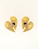 Courrèges Vintage Gold Broken Heart Earrings - Amarcord Vintage Fashion  - 2