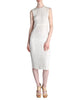 Courrèges Vintage Cream Gauze Blue Dot Sun Dress - Amarcord Vintage Fashion  - 1