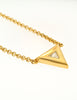 Courrèges Vintage Gold Rhinestone Triangle Necklace - Amarcord Vintage Fashion  - 2