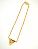 Courrèges Vintage Gold Rhinestone Triangle Necklace - Amarcord Vintage Fashion  - 3