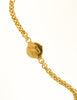 Courrèges Vintage Gold Rhinestone Triangle Necklace - Amarcord Vintage Fashion  - 7