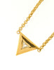 Courrèges Vintage Gold Rhinestone Triangle Necklace - Amarcord Vintage Fashion  - 4