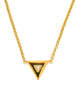 Courrèges Vintage Gold Rhinestone Triangle Necklace - Amarcord Vintage Fashion  - 1