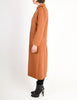 Courreges Vintage Rust Orange Brown Boucle Wool Button Up Coat
