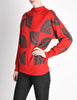 Courreges Vintage Red & Grey Pattern Sweater - Amarcord Vintage Fashion  - 3