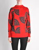 Courreges Vintage Red & Grey Pattern Sweater - Amarcord Vintage Fashion  - 4