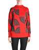 Courreges Vintage Red & Grey Pattern Sweater - Amarcord Vintage Fashion  - 1