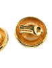 Christian Dior Gold Medallion Earrings - Amarcord Vintage Fashion  - 5