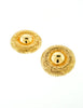 Christian Dior Gold Medallion Earrings - Amarcord Vintage Fashion  - 2