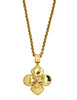Chanel Vintage Gold CC Logo Crest Flower Necklace - Amarcord Vintage Fashion  - 1