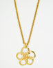 Chanel Vintage Gold Camellia Flower Necklace - Amarcord Vintage Fashion  - 2