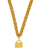 Chanel Vintage Gold Quilted Handbag Necklace - Amarcord Vintage Fashion  - 1