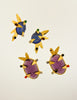 Daum Vintage Colorful Glass Spike Statement Earrings