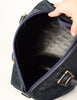 Christian Dior Vintage 1970s Navy Blue Trotter Monogram Boston Doctor Bag